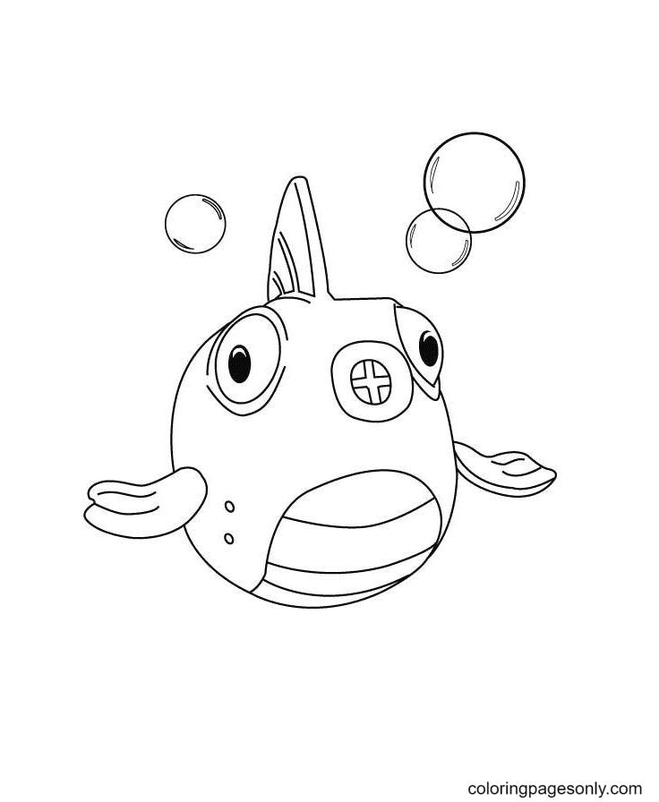 Doc McStuffins Fish Coloring Page