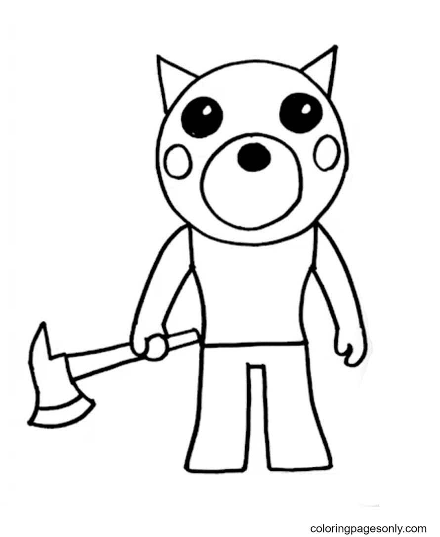 Doggy Piggy Coloring Page