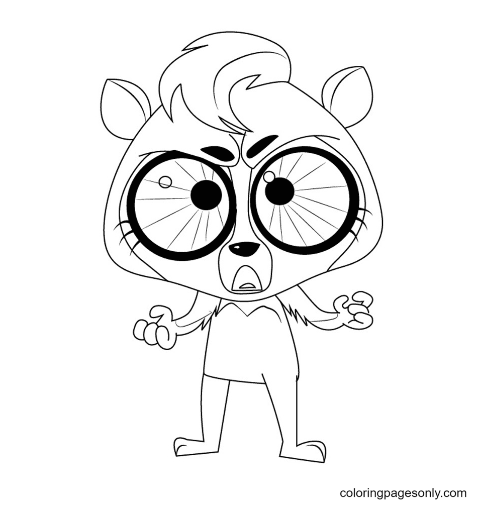 Dolores from Littlest Pet Shop Coloring Page