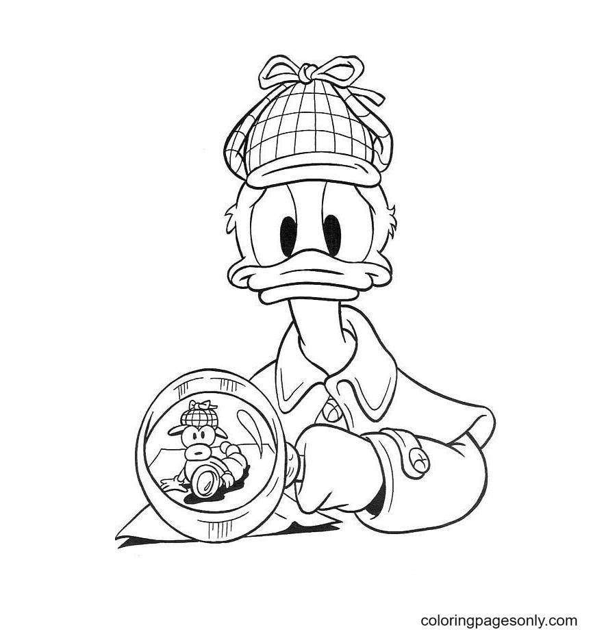 Donald plays Sherlock HolmesDonald plays Sherlock Holmes Coloring Page
