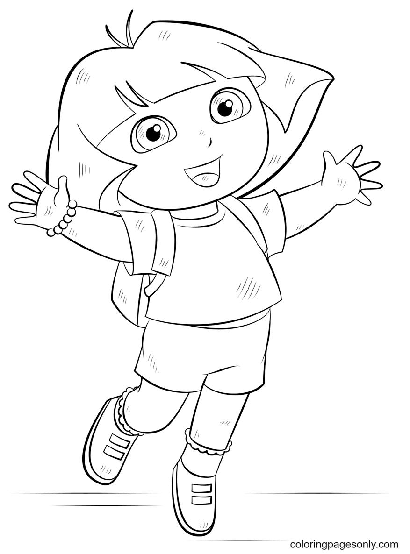 Dora fun Coloring Page