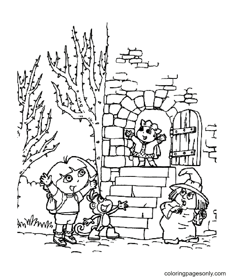 Dora the explorer free Coloring Page