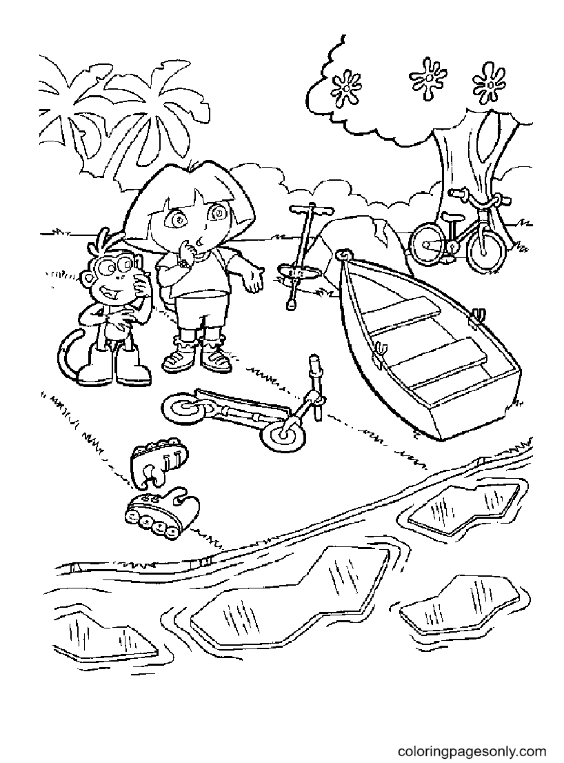 Dora the explorer to print Coloring Page