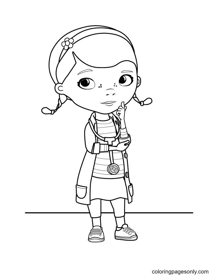 Dottie – Doc McStuffins Coloring Page