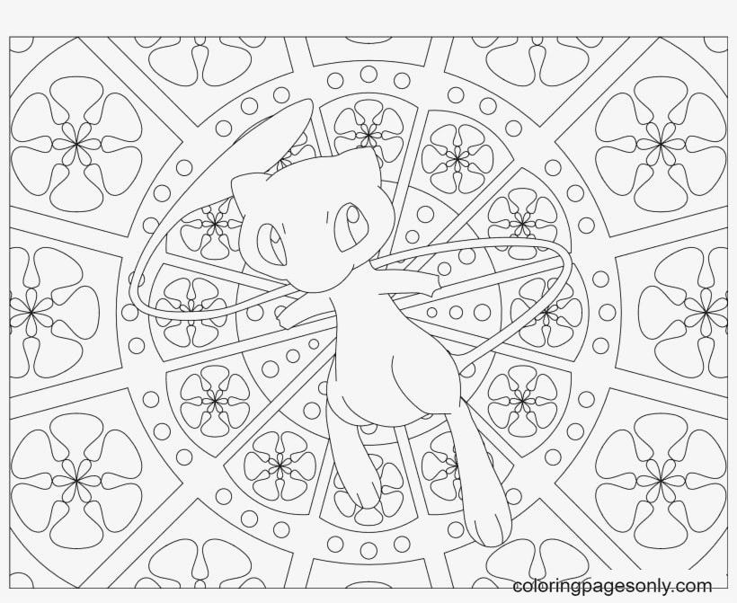 Download Printable Mew Pokemon Coloring Page