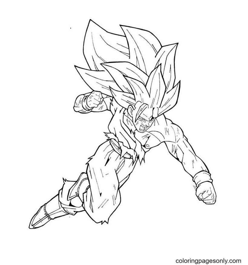 Dragon Ball Goku Super Saiyan Coloring Page