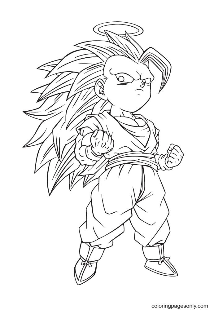 Dragon Ball Son Goku Coloring Page