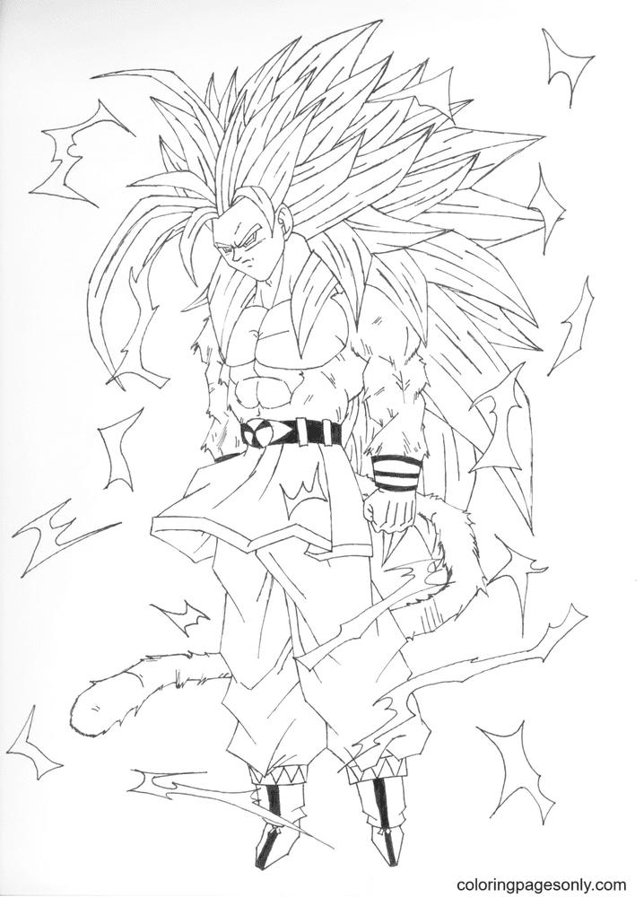 Dragon Ball Super Saiyan Of Son Goku Coloring Pages