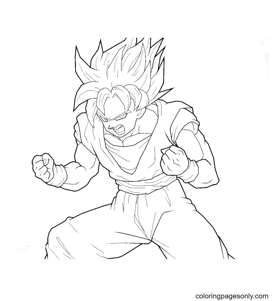 Dragon Ball Z Goku Son Coloring Page