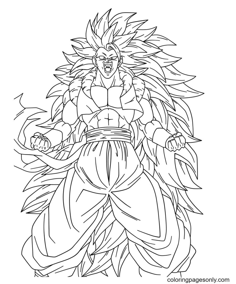 Dragon Ball Z Gokuu Coloring Page