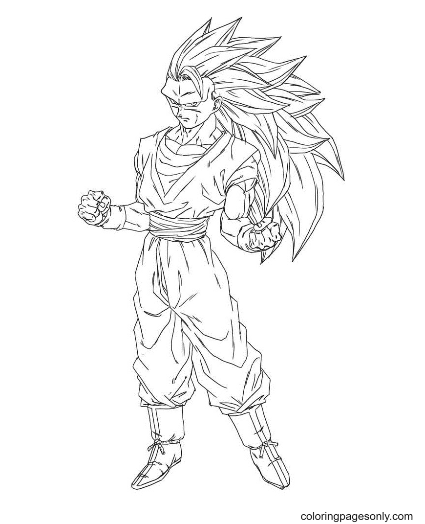 Dragon Ball Z Son Goku Coloring Page