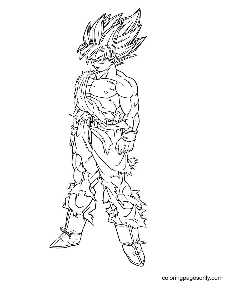 Dragon Ball Z Son Gokuu Coloring Page