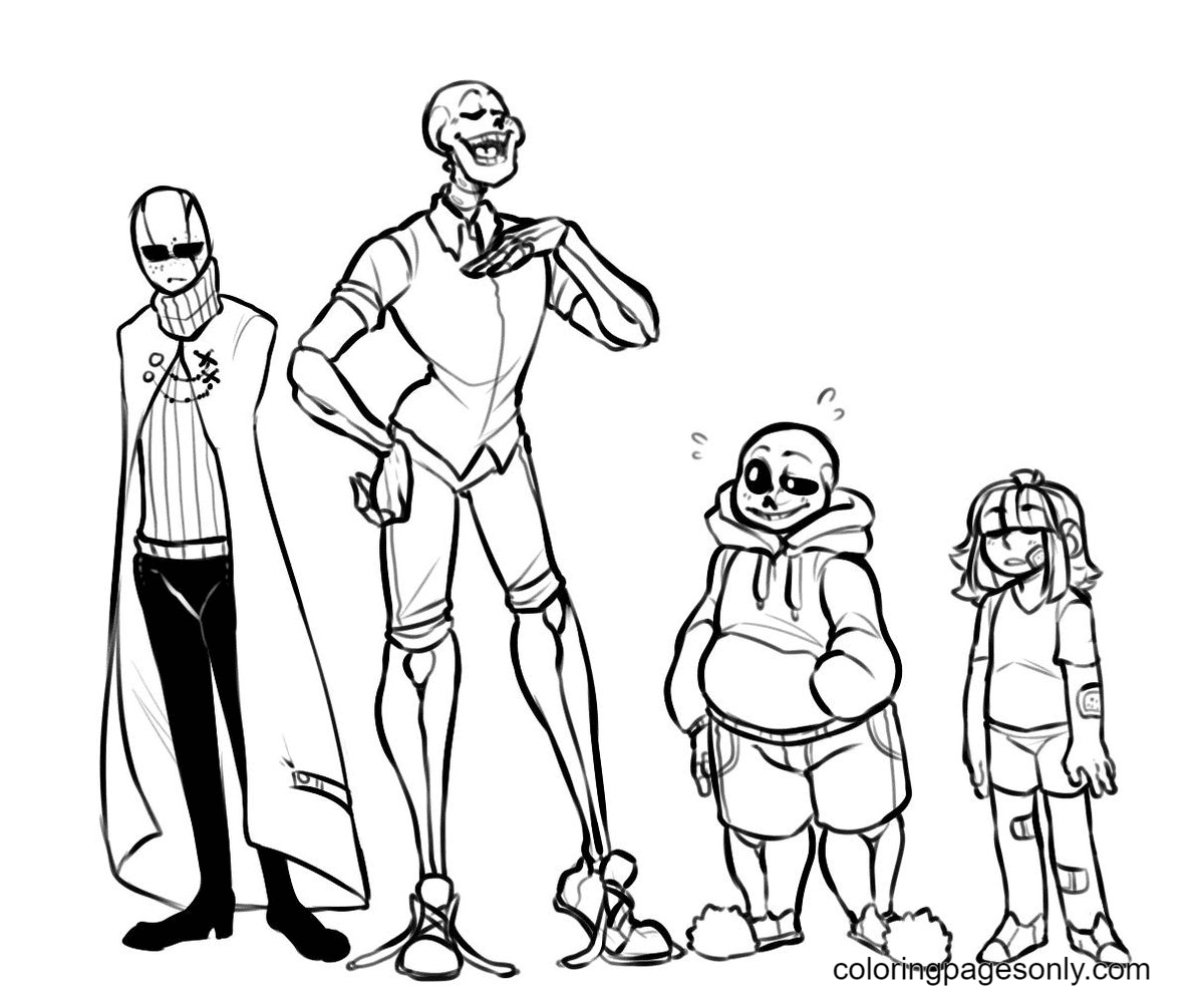 Drawing Papyrus Coloring Page