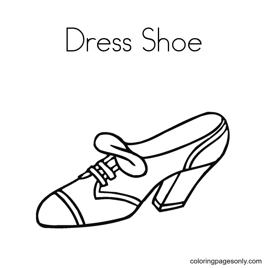 Dress Shoes Coloring Page