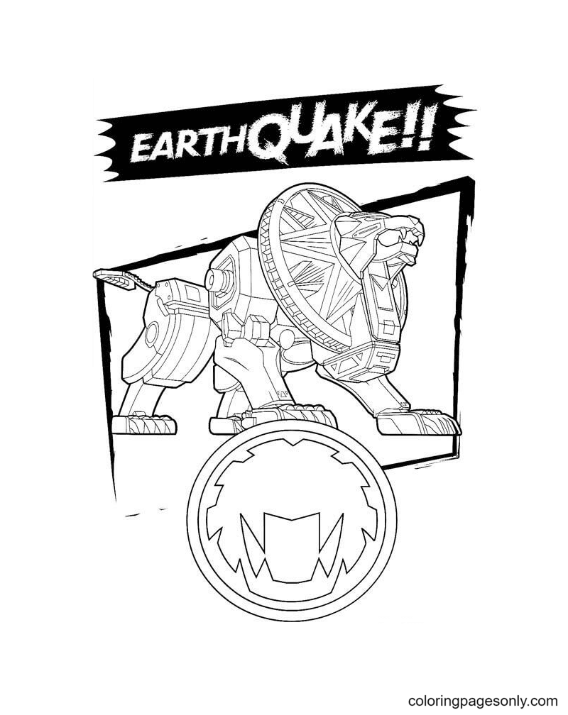 Earth Quake Coloring Page