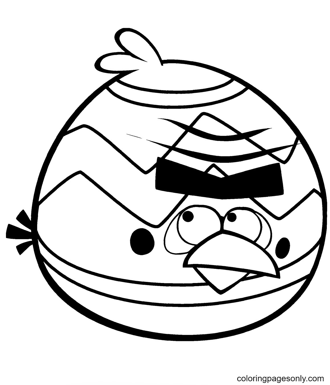 Easter Terence Bird Coloring Page