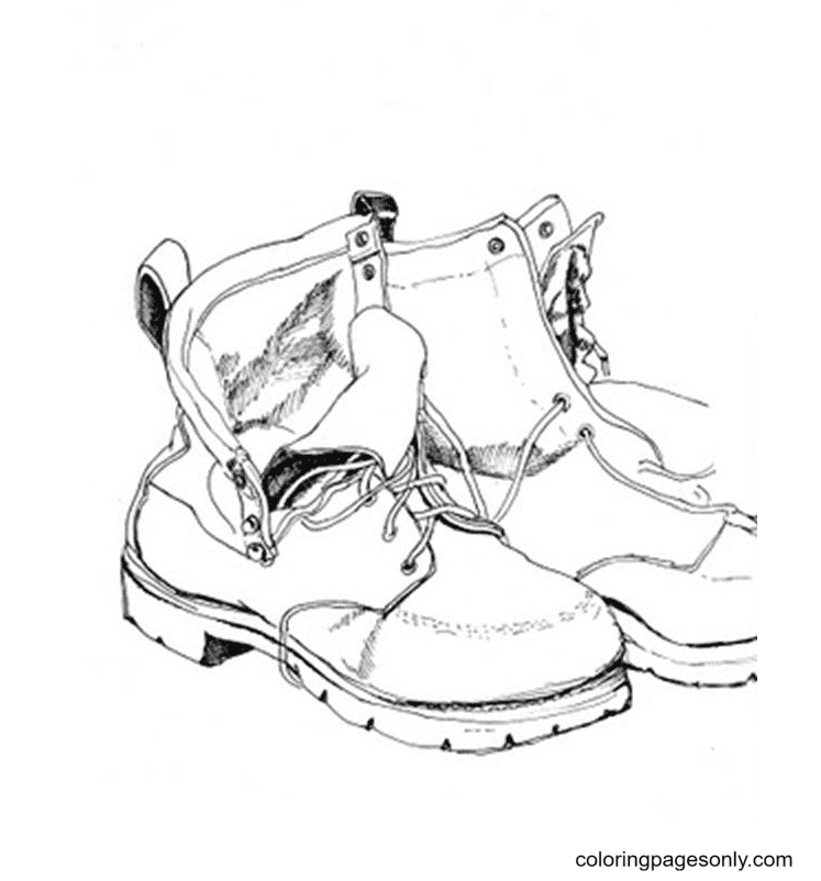 Fathers Shoes Coloring Page