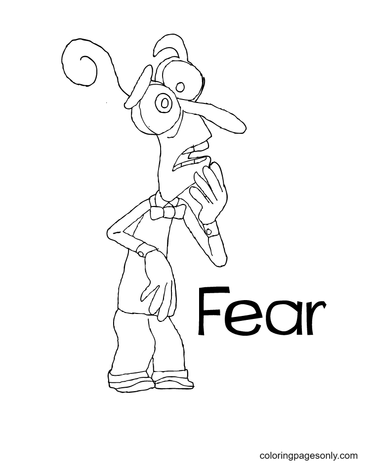 Fear From Inside Out Coloring Page