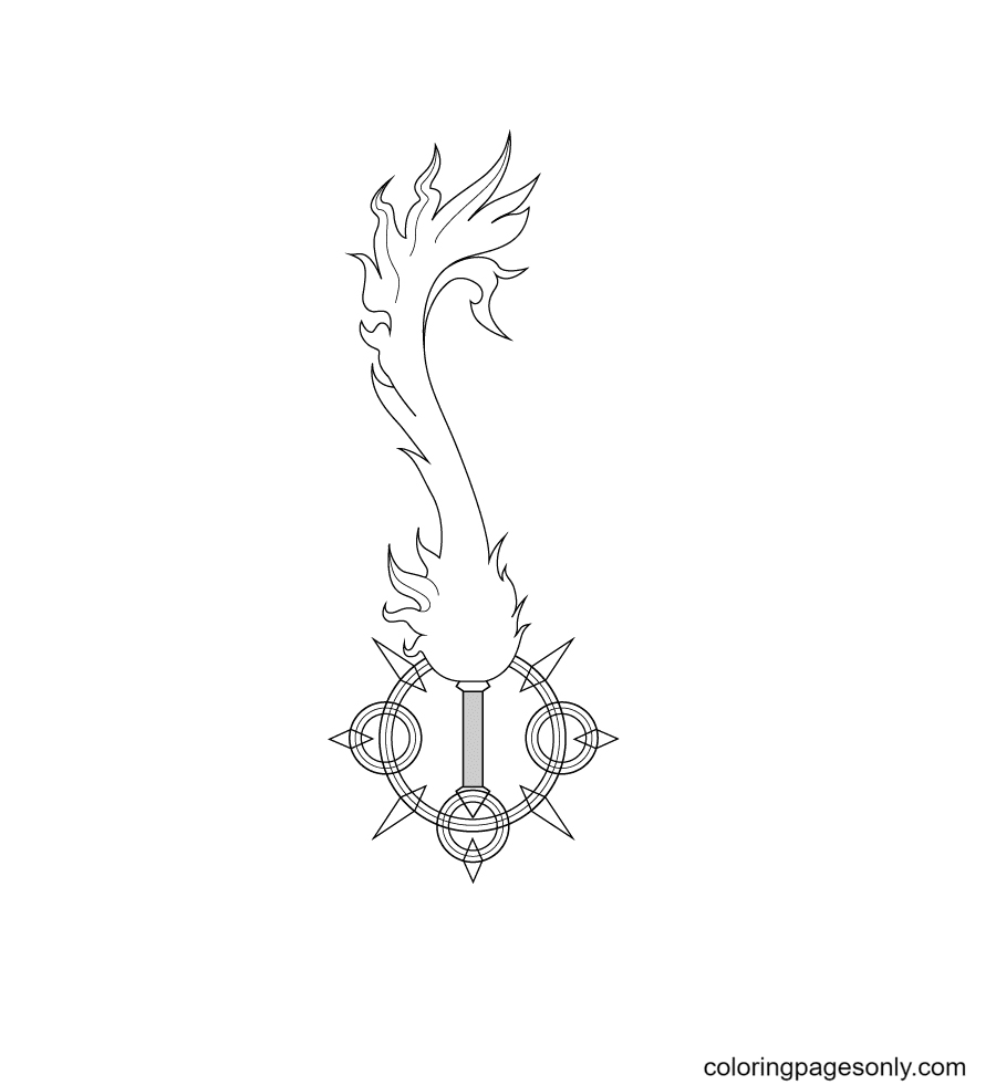 Free Key Coloring Page