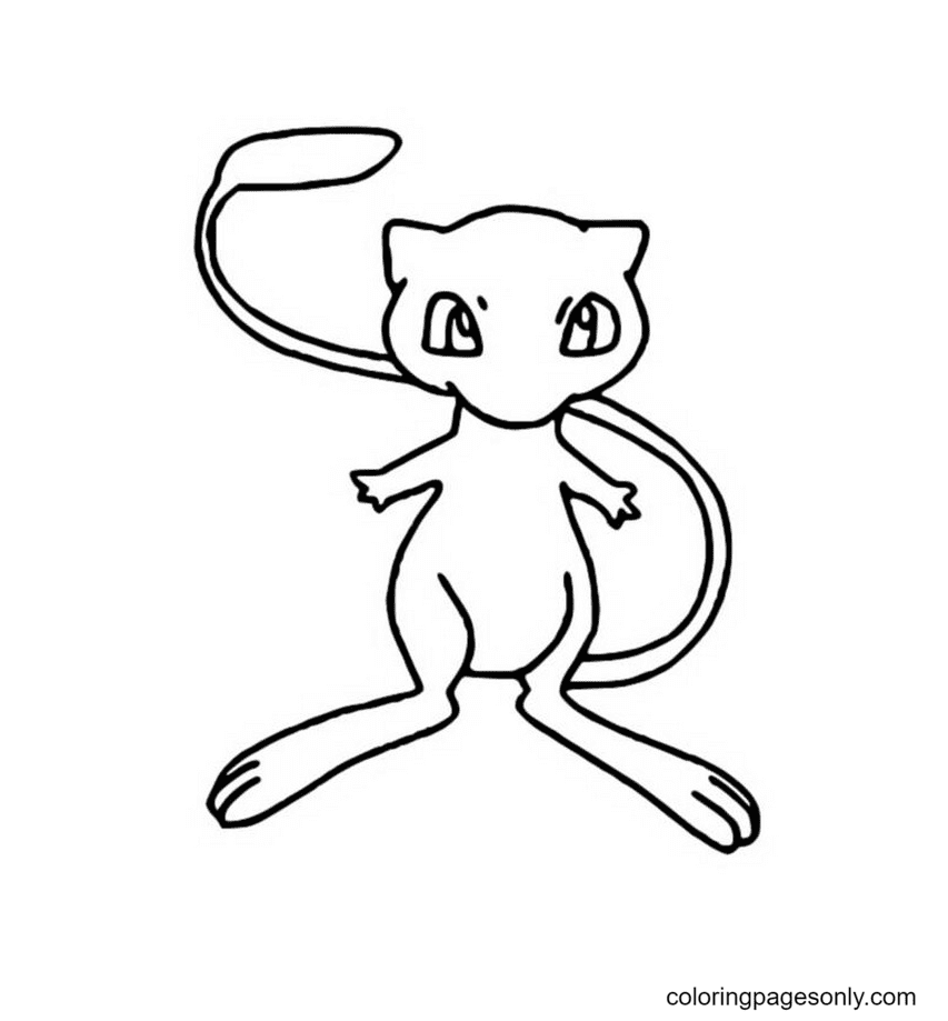 Free Mew Coloring Page
