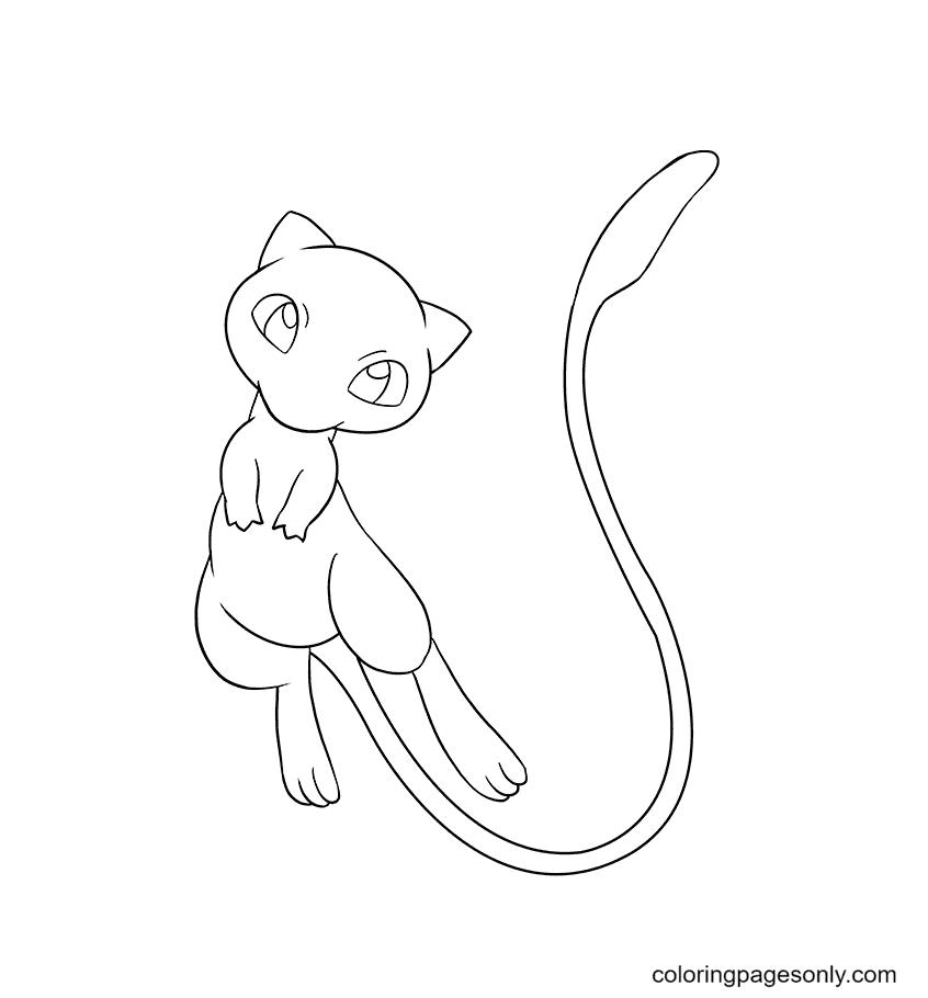 Free Pokemon Mew Coloring Page