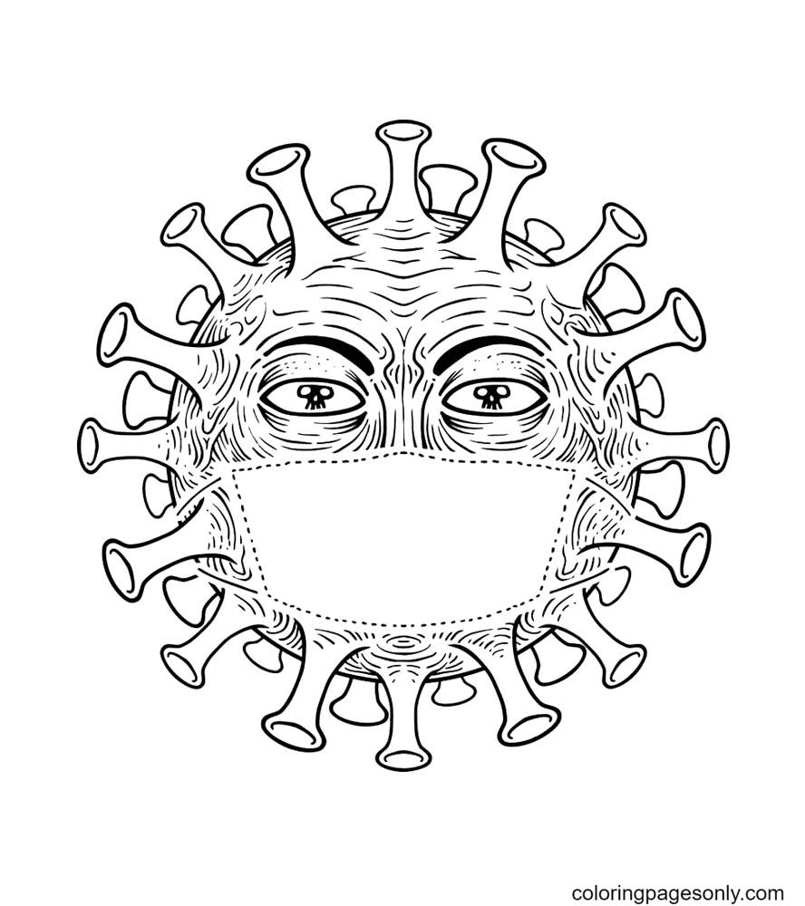 Free Printable Coronavirus Coloring Page