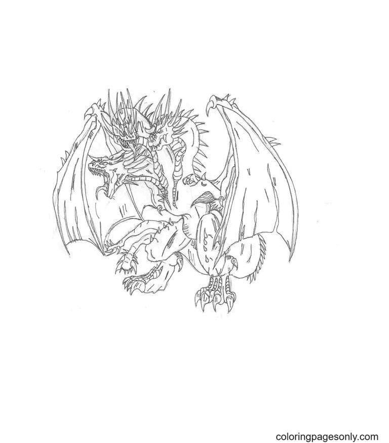 Free Printable Ghidorah King Coloring Page