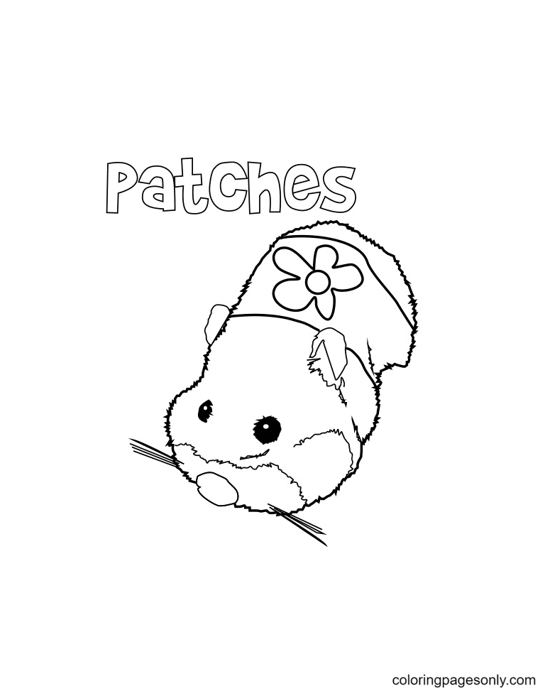 Free Printable Hamster Coloring Page