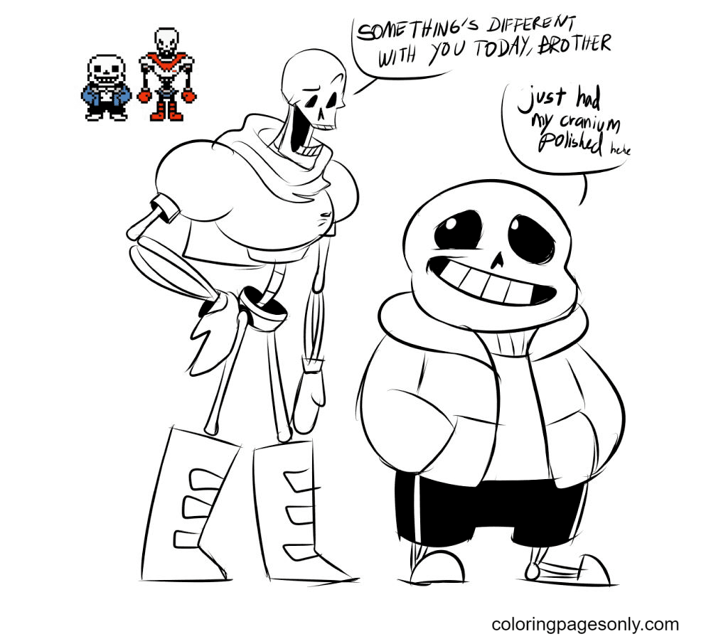 Free Printable Papyrus And Sans Coloring Page