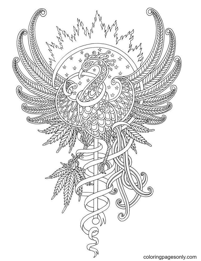 Free Printable Phoenix Coloring Page