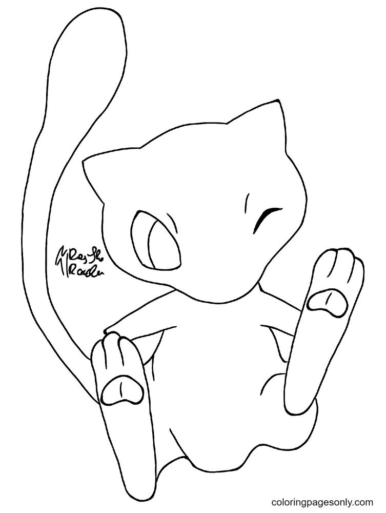 Free Printable Pokemon Mew Coloring Page