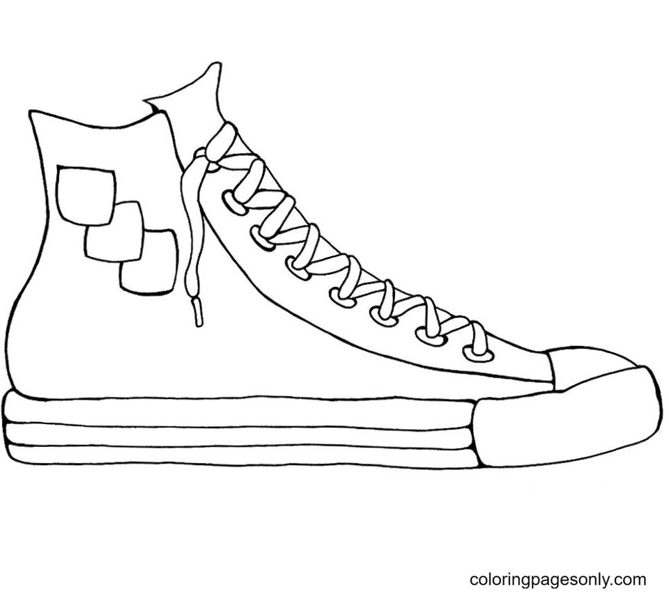 Free Printable Shoe Coloring Page