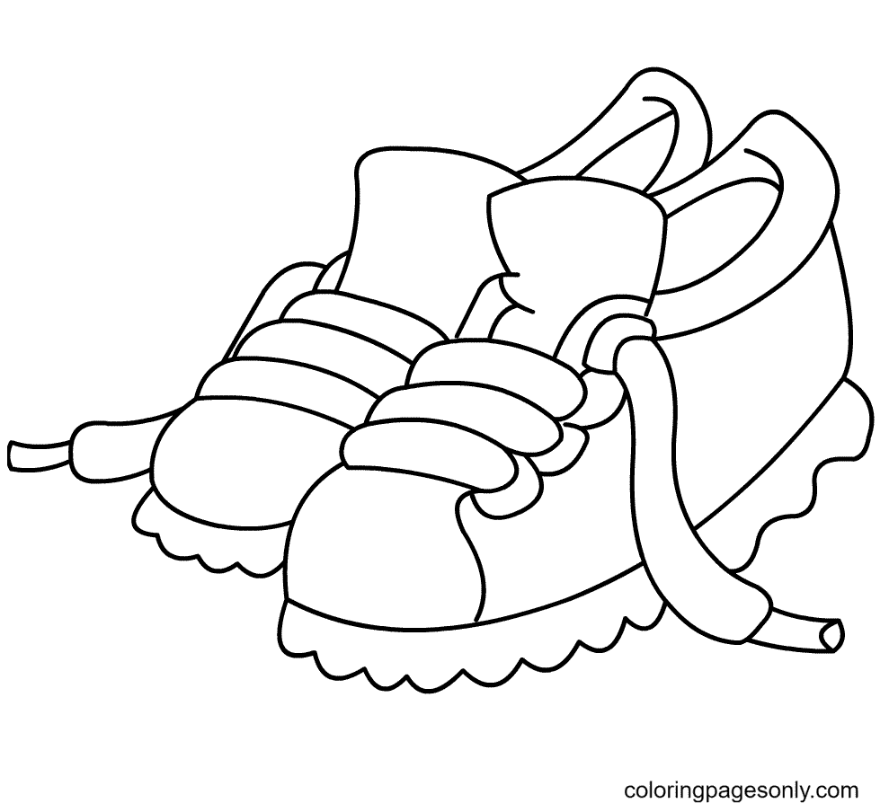 Free Printable Shoes Coloring Page