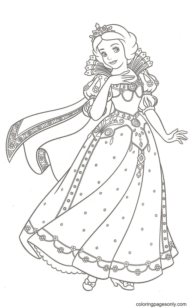 Free Printable Snow White Coloring Page