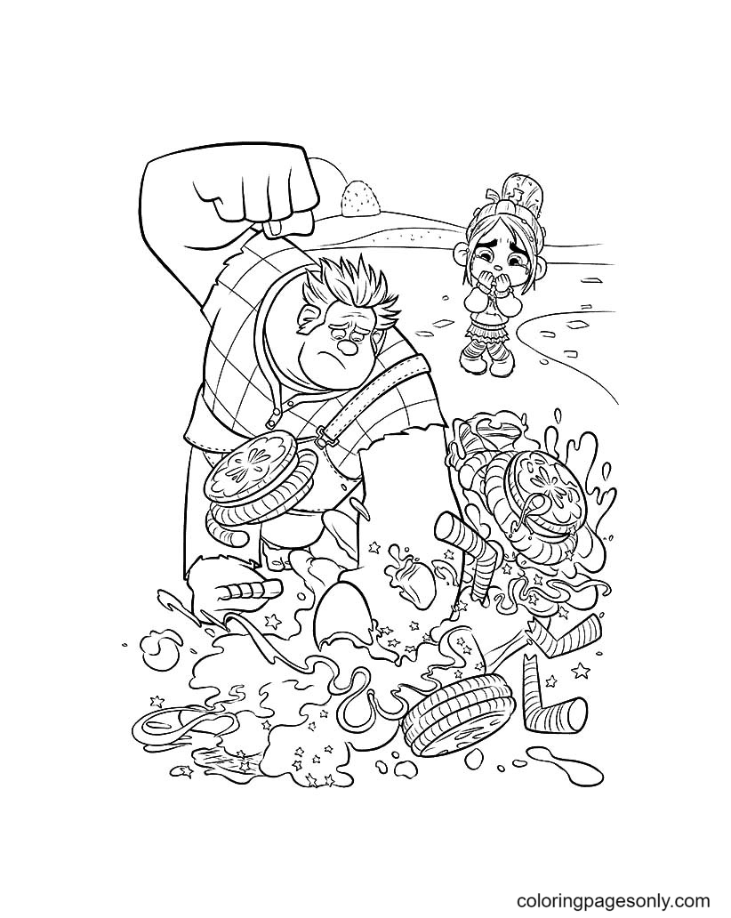Free Printable Wreck-it Ralph Coloring Page