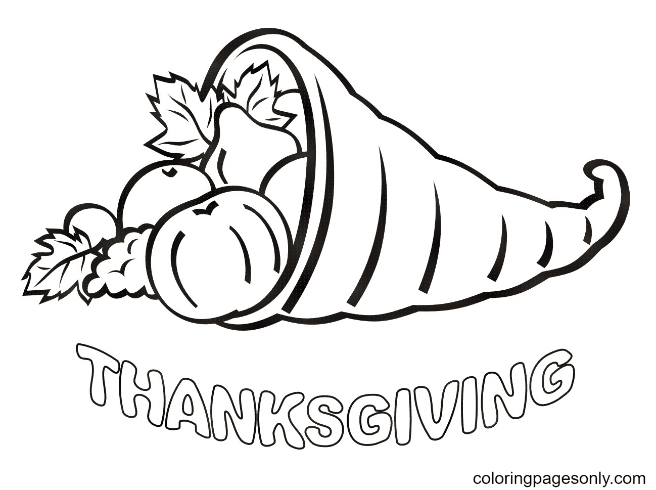 Free Thanksgiving Day Coloring Pages