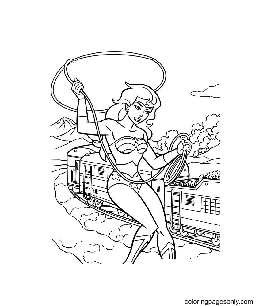 Free Wonder Woman Coloring Page