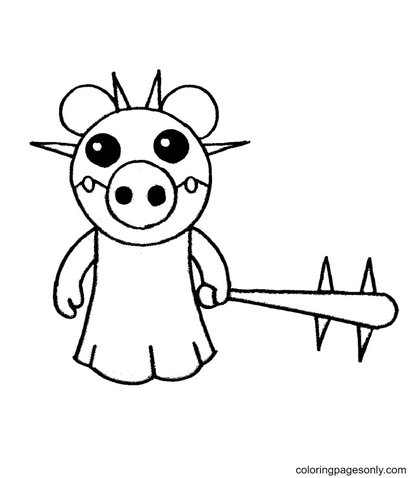 Frostiggy Roblox Piggy Coloring Page