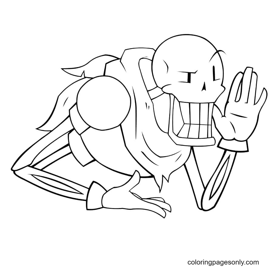 Fun Papyrus Coloring Page