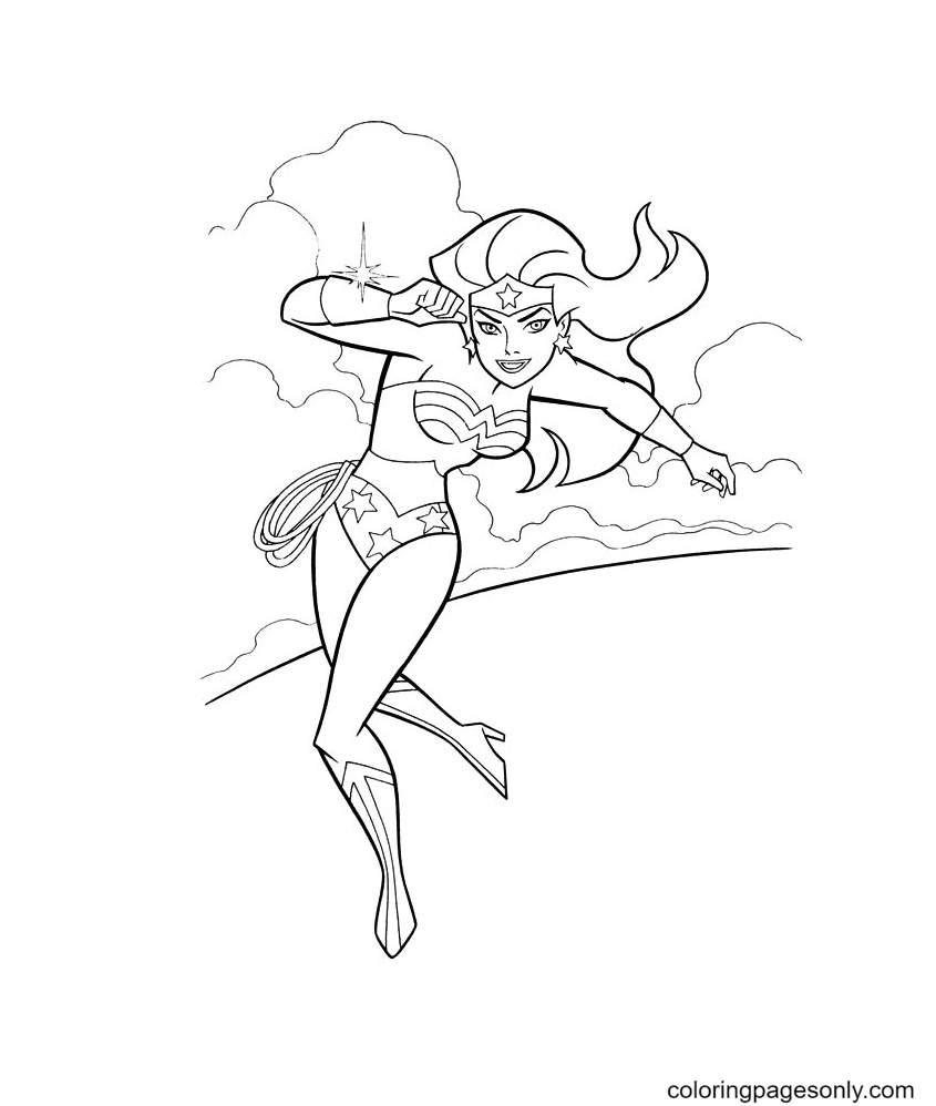 Fun Wonder Woman Coloring Page