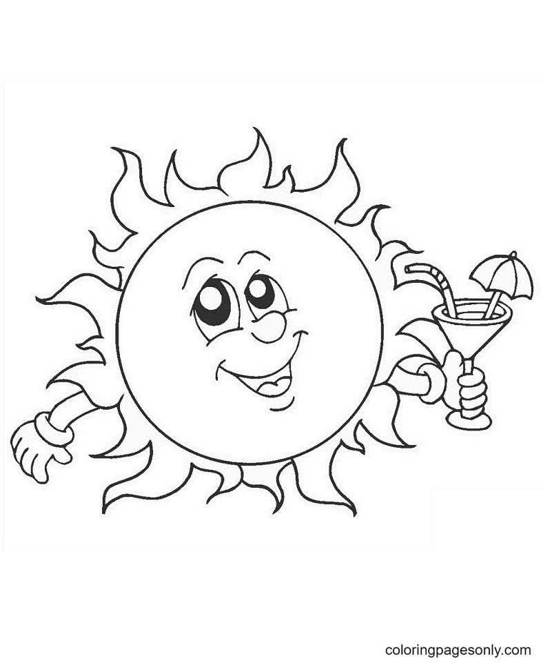 Fun in the Sun Coloring Page