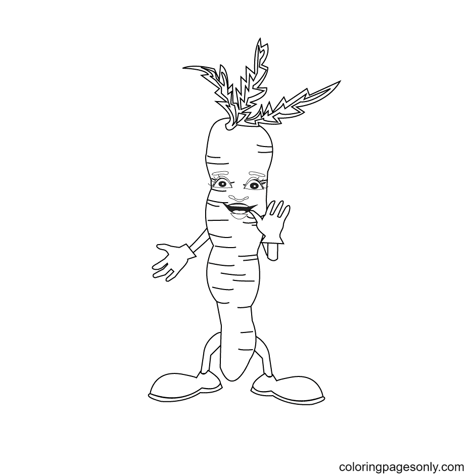 Funny Carrots Coloring Page