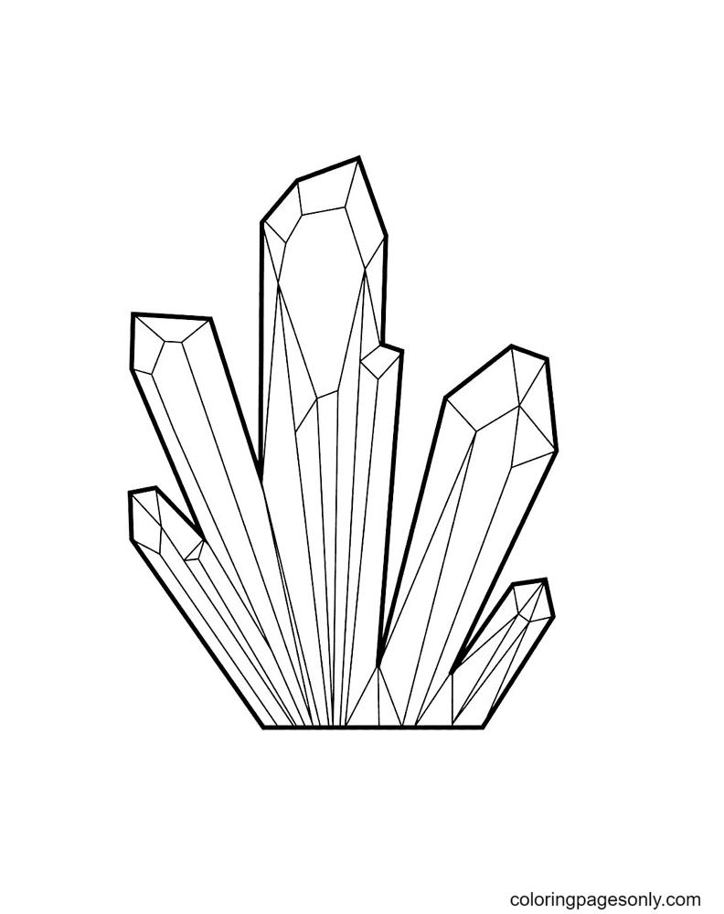Gemstone Crystal Printable Coloring Page
