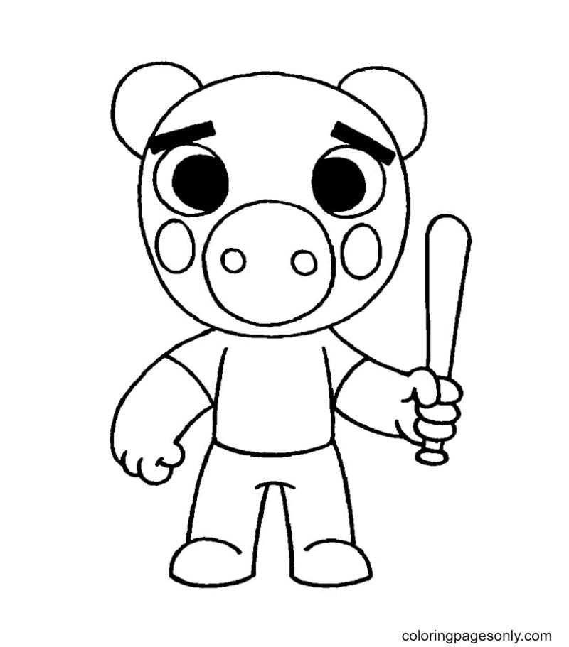 Georgie Piggy Roblox Coloring Page