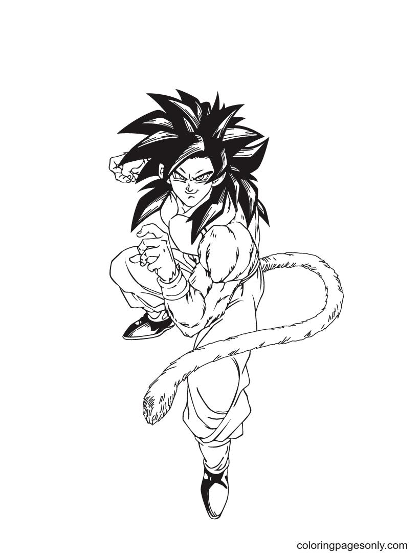 Goku Free Printable Coloring Page