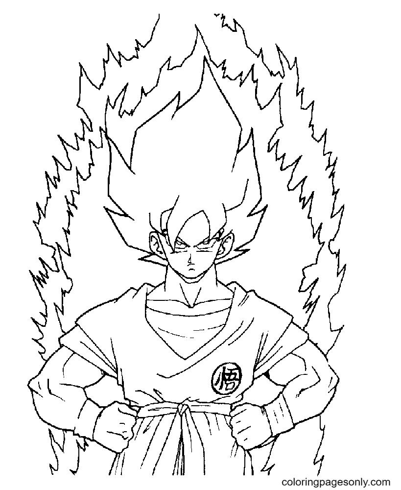 Goku Son Dragon Ball Coloring Page