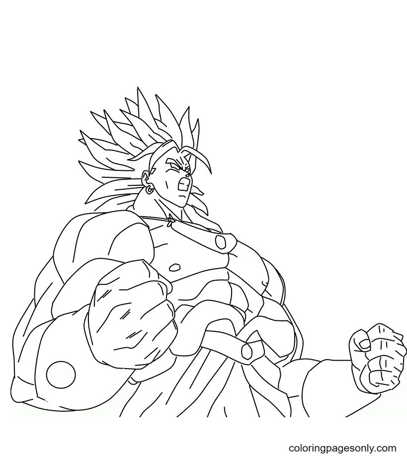Goku Son Super Saiyan Coloring Page