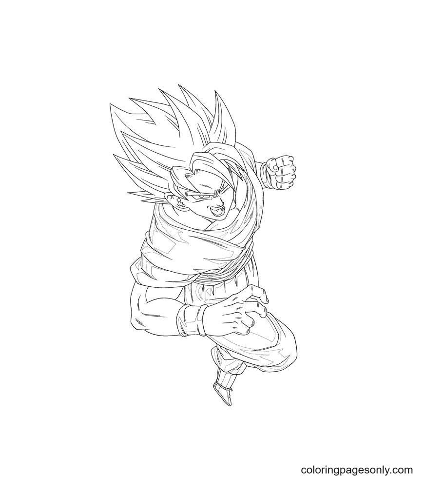 Goku Son Coloring Page