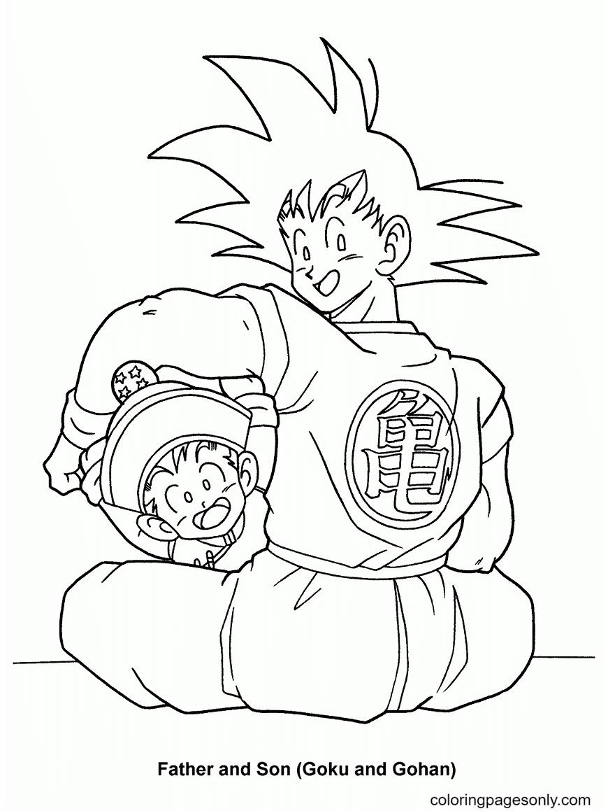 Goku and Gohan Coloring Page