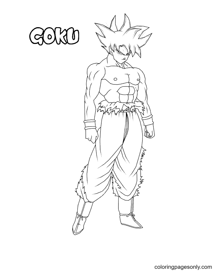 Goku in DBZ Coloring Page